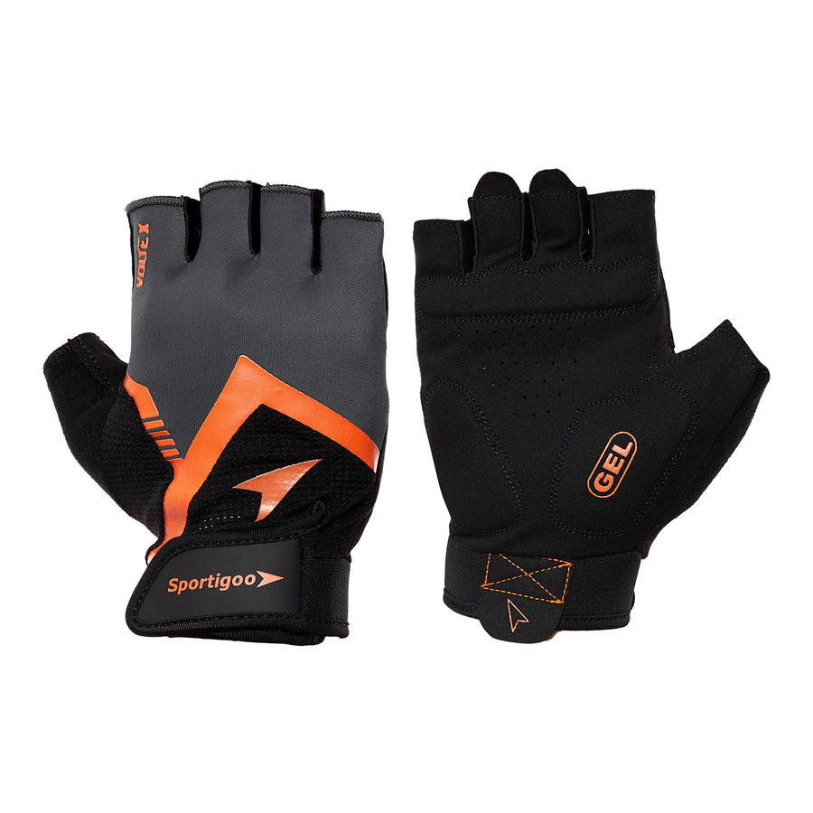 Sportigoo Volte-X Gym & Fitness Gloves - Grey/Orange