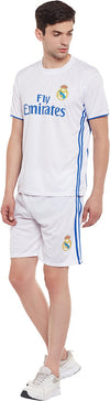 Sportigoo Unisex Real Madrid Ronaldo Football Jersey-White/Blue
