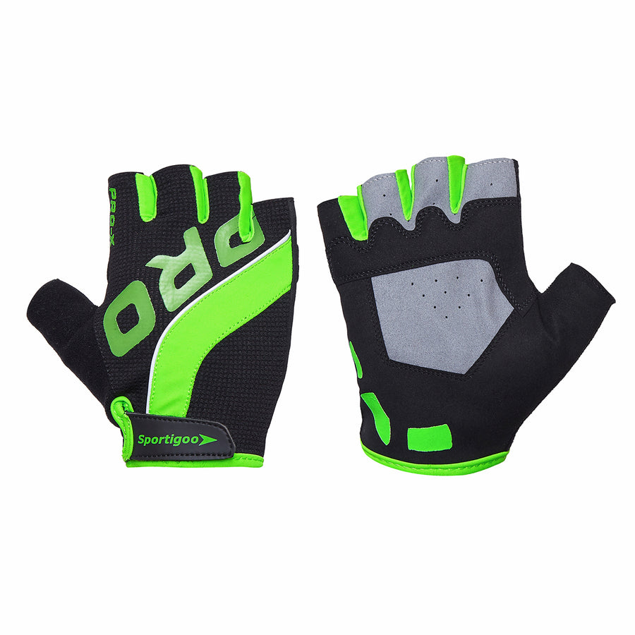 Sportigoo PRO Gym & Fitness Gloves-Black/Green