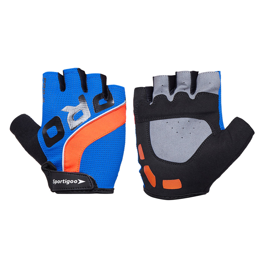 Sportigoo PRO Gym & Fitness Gloves - Blue/Orange