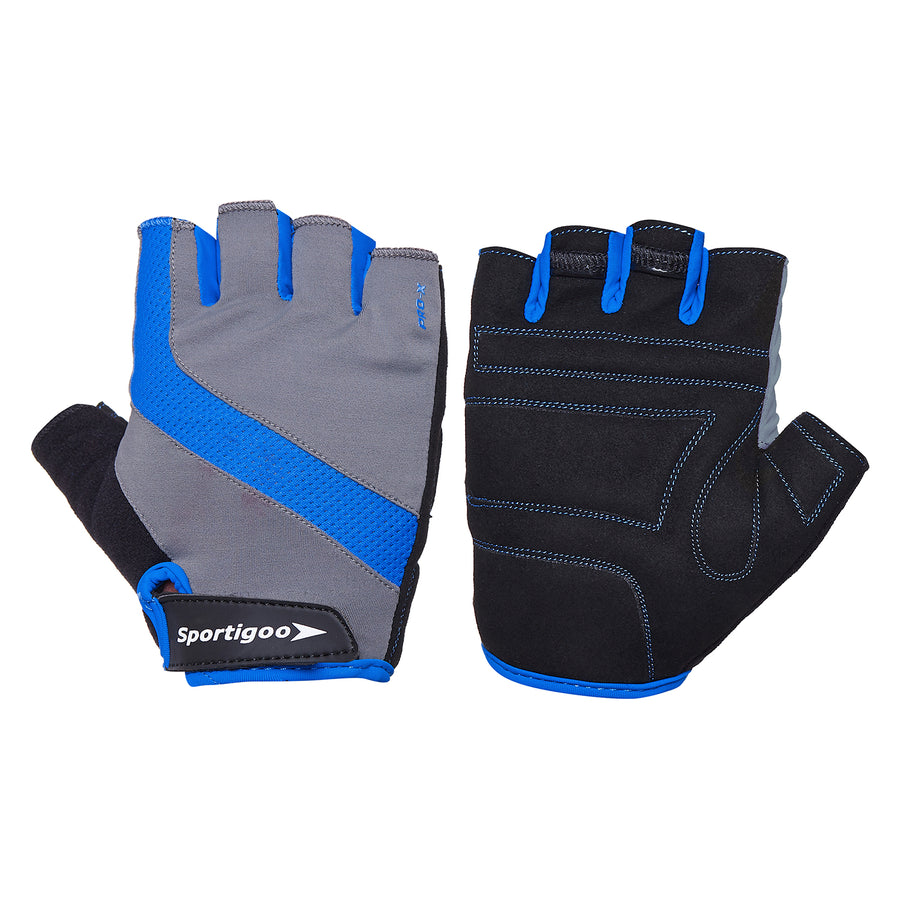 Sportigoo Pro-X Gym & Fitness Gloves - Grey/Blue