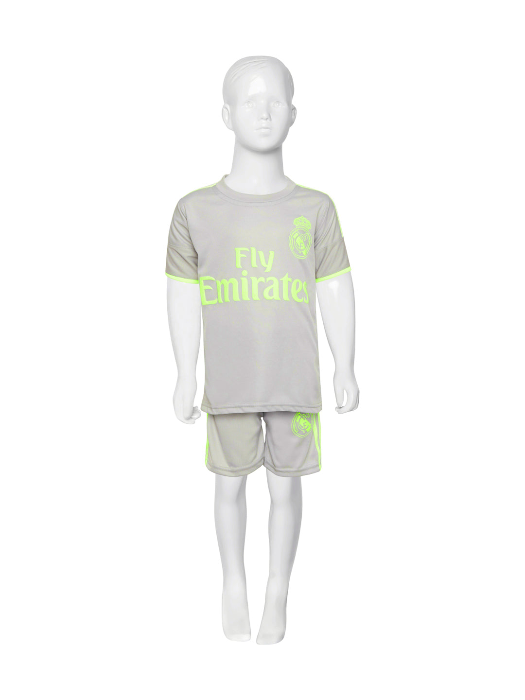 free shipping 8601f 13303 Sportigoo Unisex Real Madrid Ronaldo KIDS Football Jersey-Grey/Green