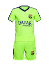Sportigoo Unisex FC Barcelona KIDS Football Jersey Set - Green/Blue