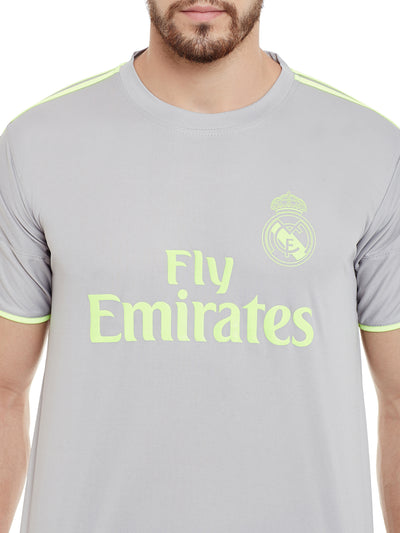 Sportigoo UNISEX Real Madrid Football Jersey - Grey