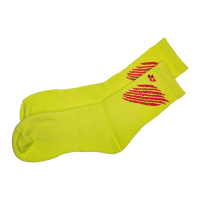 Yonex Tru3D Cushion Support White/Lime Green Red Socks (Pack of 2 Pairs)