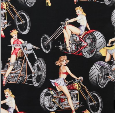 PinUp Moto Chopper Bike- Fashionista à dentelle