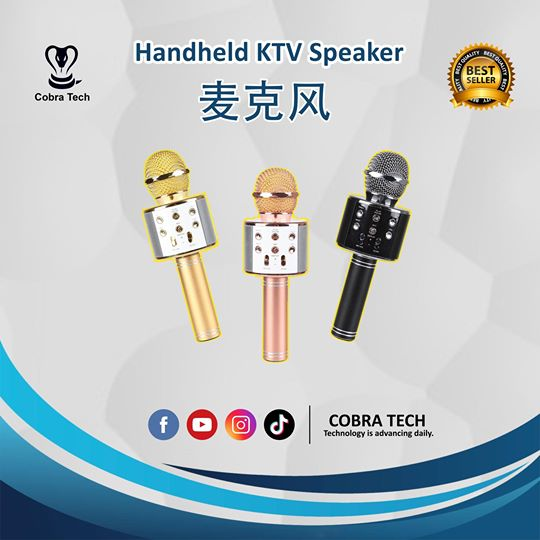 Condenser Karaoke Microphone Magnetic Wireless Bluetooth Speaker Rechargeable U Disk TF Card Handheld KTV Speakers Smartphone