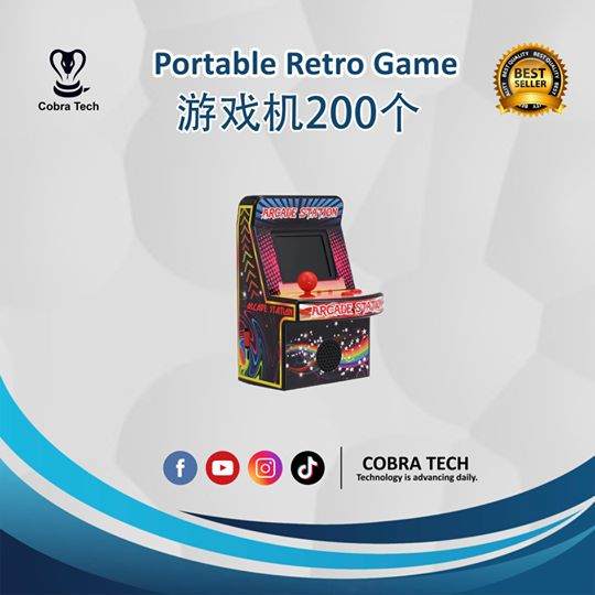 RHAC01 8-Bit Portable Retro Handheld Game Console Game Machine Mini Arcade Games AV Output 200 Classic Games With 2.5
