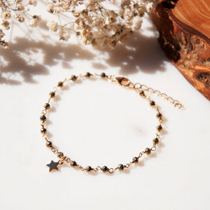 bracelet chaine or pyrite