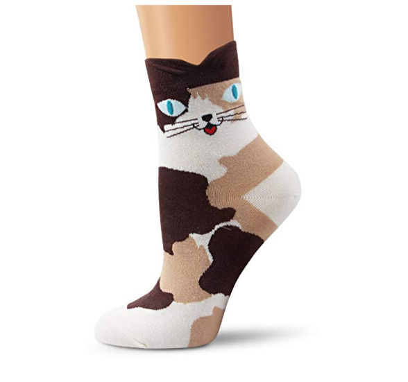 Women's Cute Cat Patterned Casual 4 Pack Socks