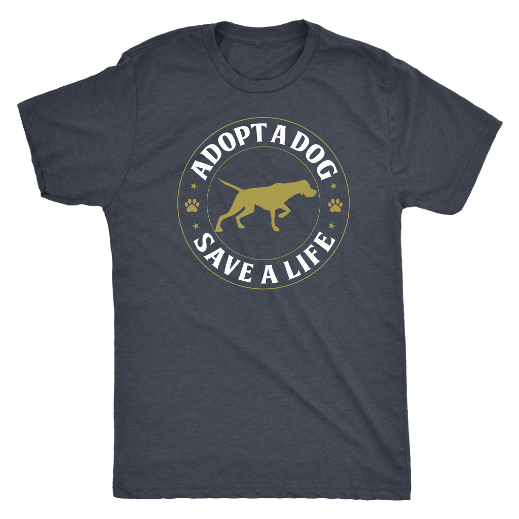 """Adopt A Dog Save A Life"" Men's Triblend T-Shirt"