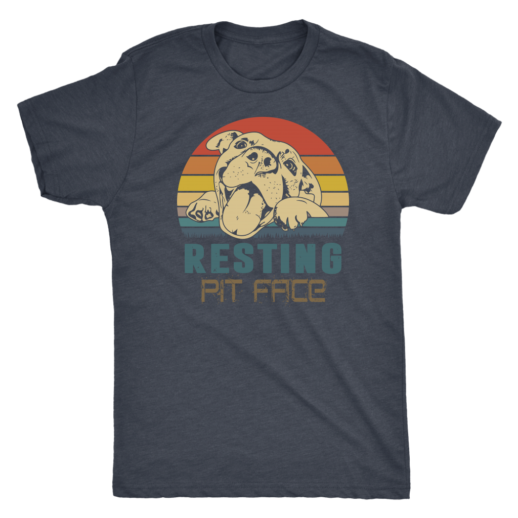 """Resting Pit Face"" Men's Triblend T-Shirt"
