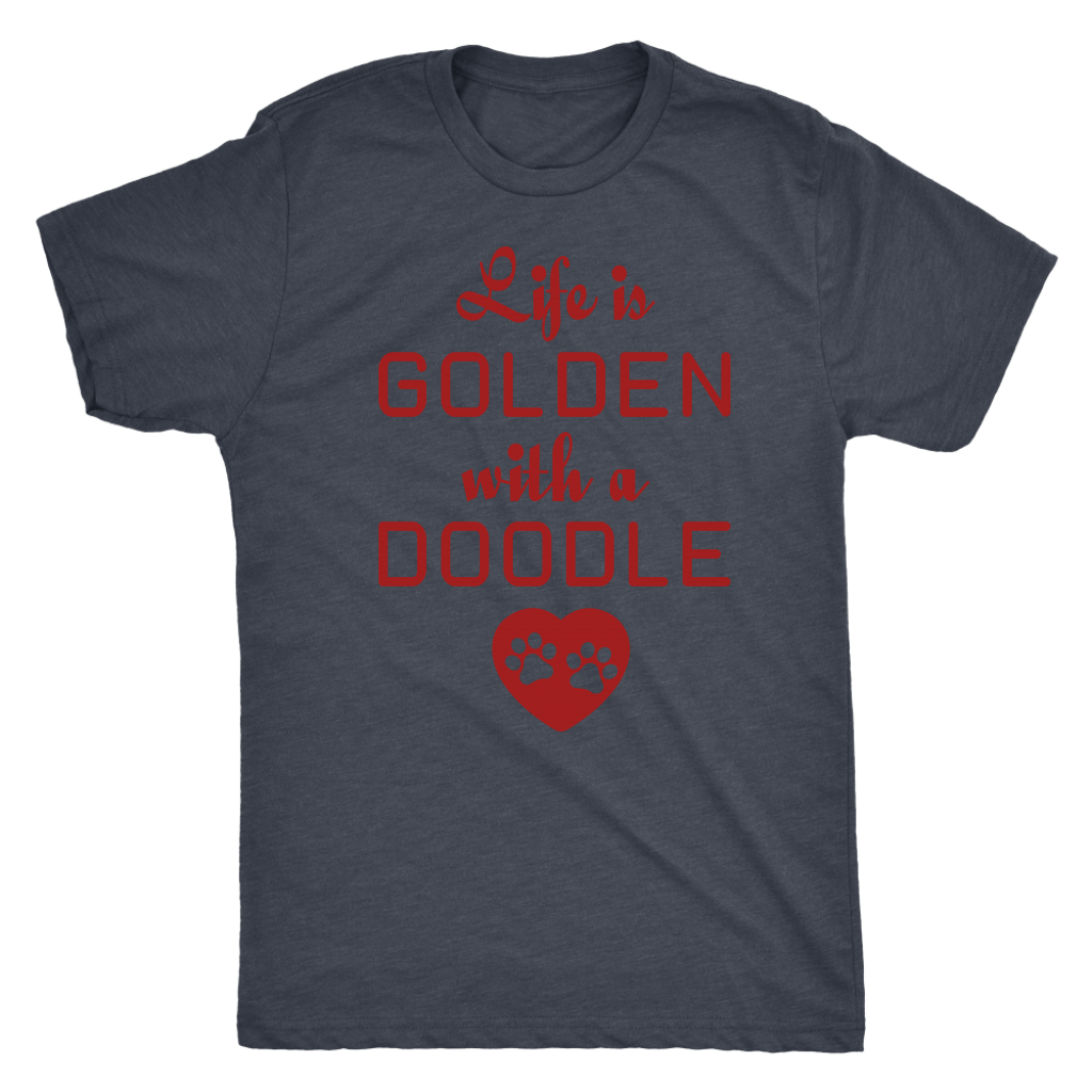 """Life Is Golden With A Doodle"" Men's Triblend T-Shirt"