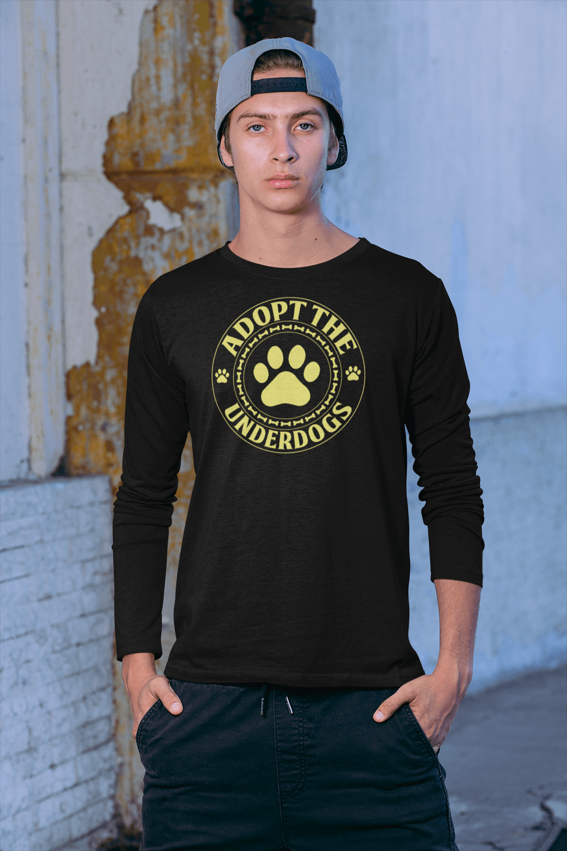 """Adopt The Underdogs"" Unisex Long Sleeve Shirt"