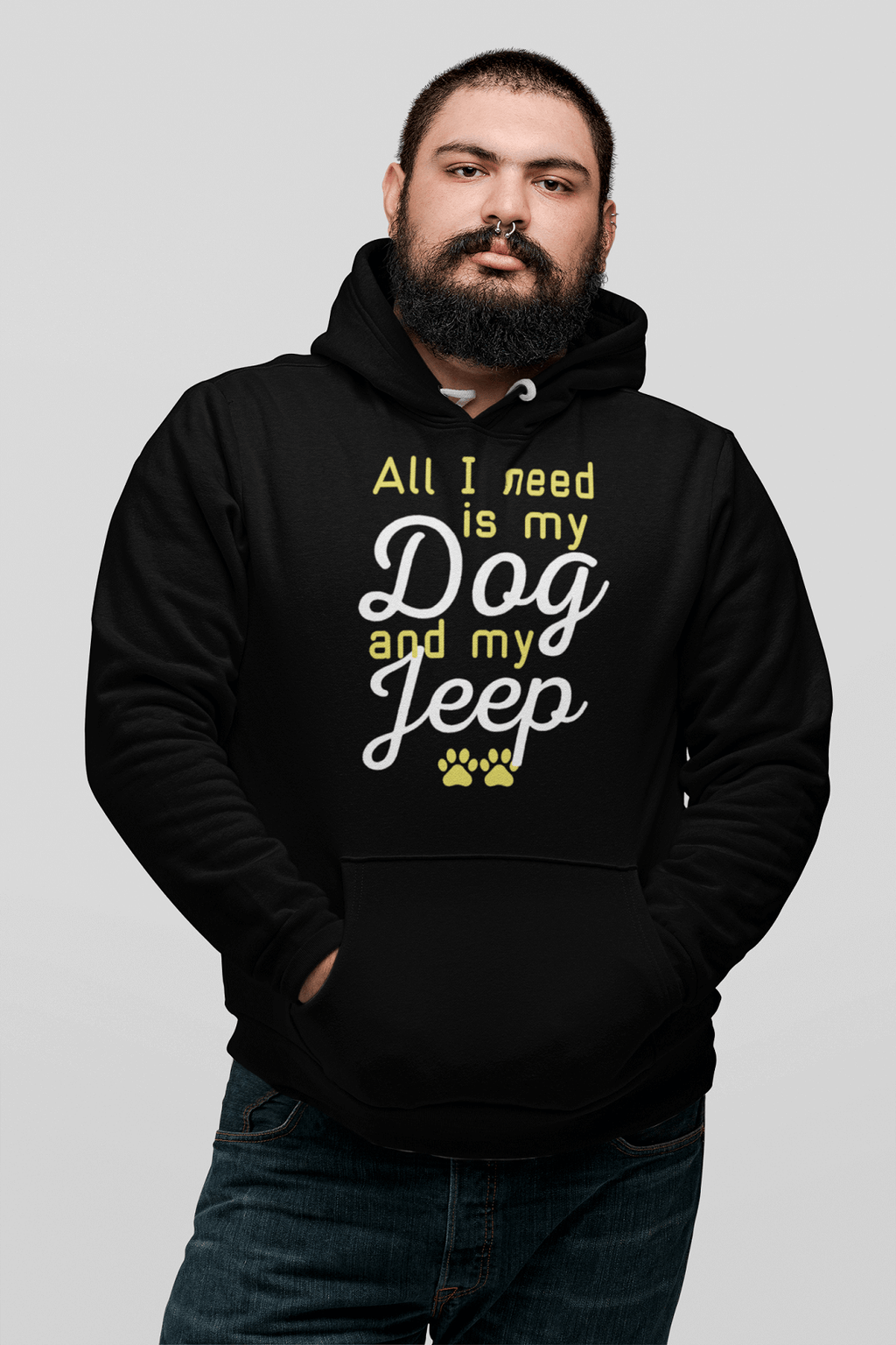 """All I Need Is My Dog And My Jeep"" Unisex Hoodie"