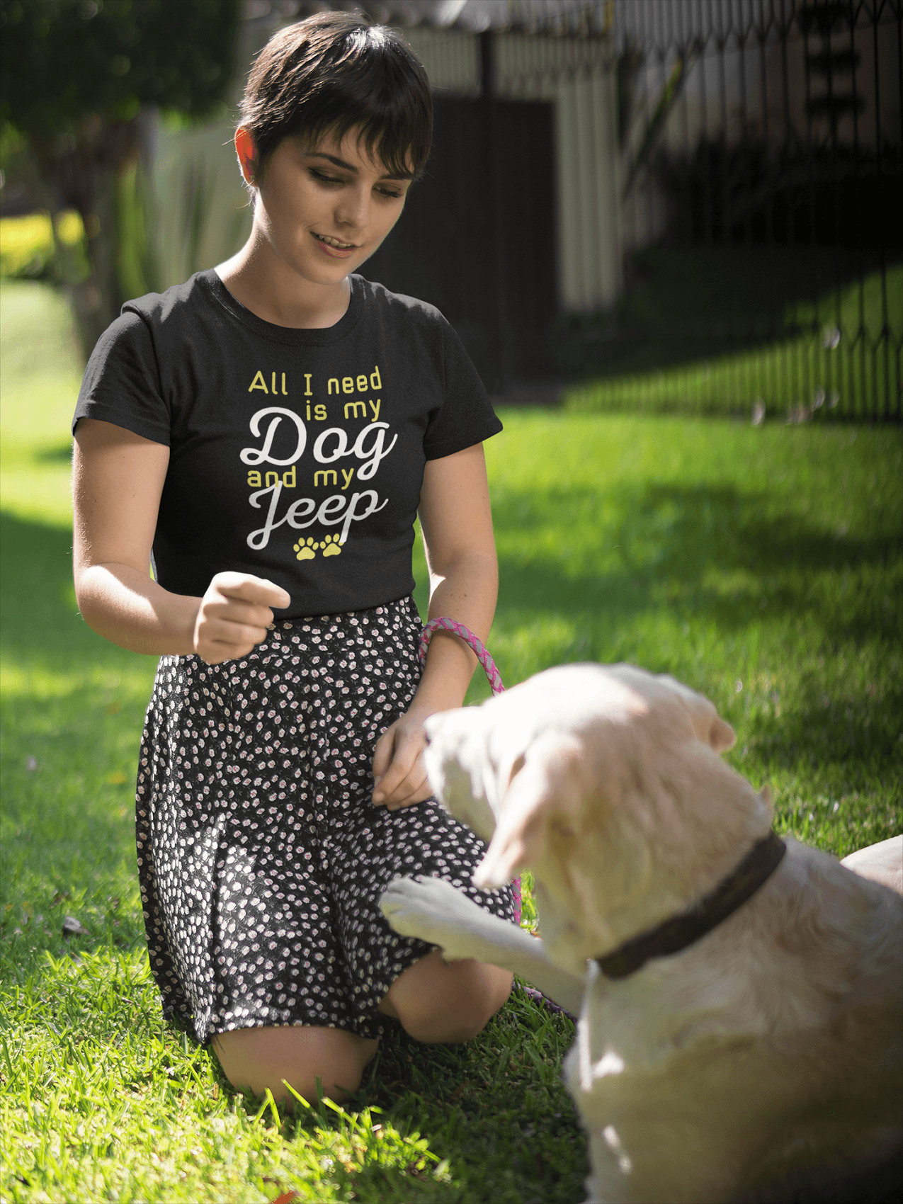 """All I Need Is My Dog And My Jeep"" Women's Triblend T-Shirt"