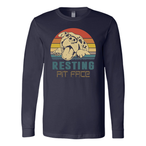 """Resting Pit Face"" Unisex Long Sleeve Shirt"