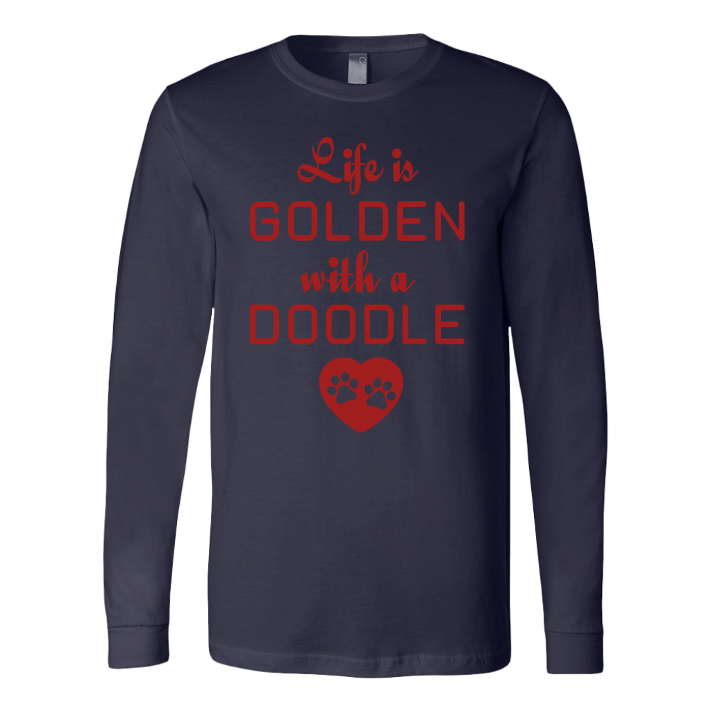 """Life Is Golden With A Doodle"" Unisex Long Sleeve Shirt"