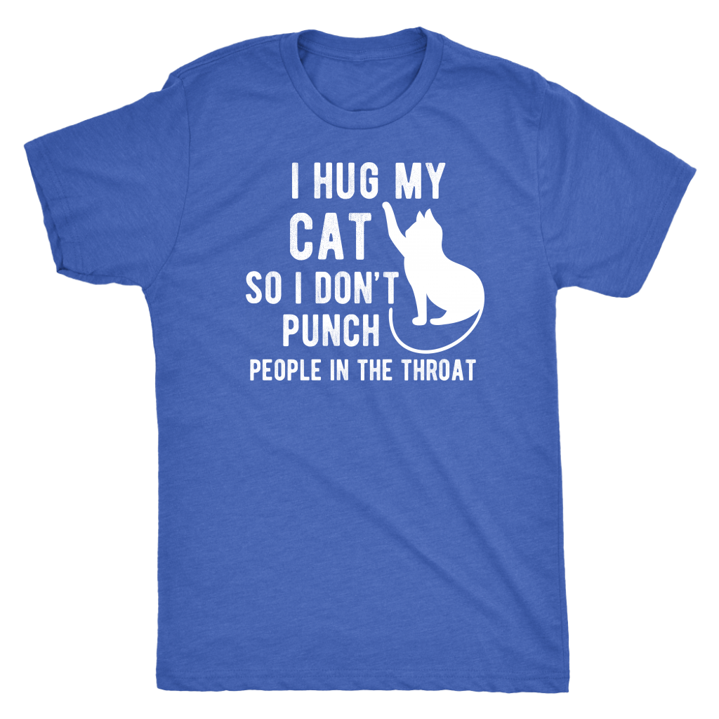 """I Hug My Cat"" Men's Triblend T-Shirt"