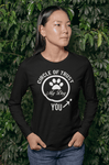 """Dog Circle Of Trust"" Unisex Long Sleeve Shirt"
