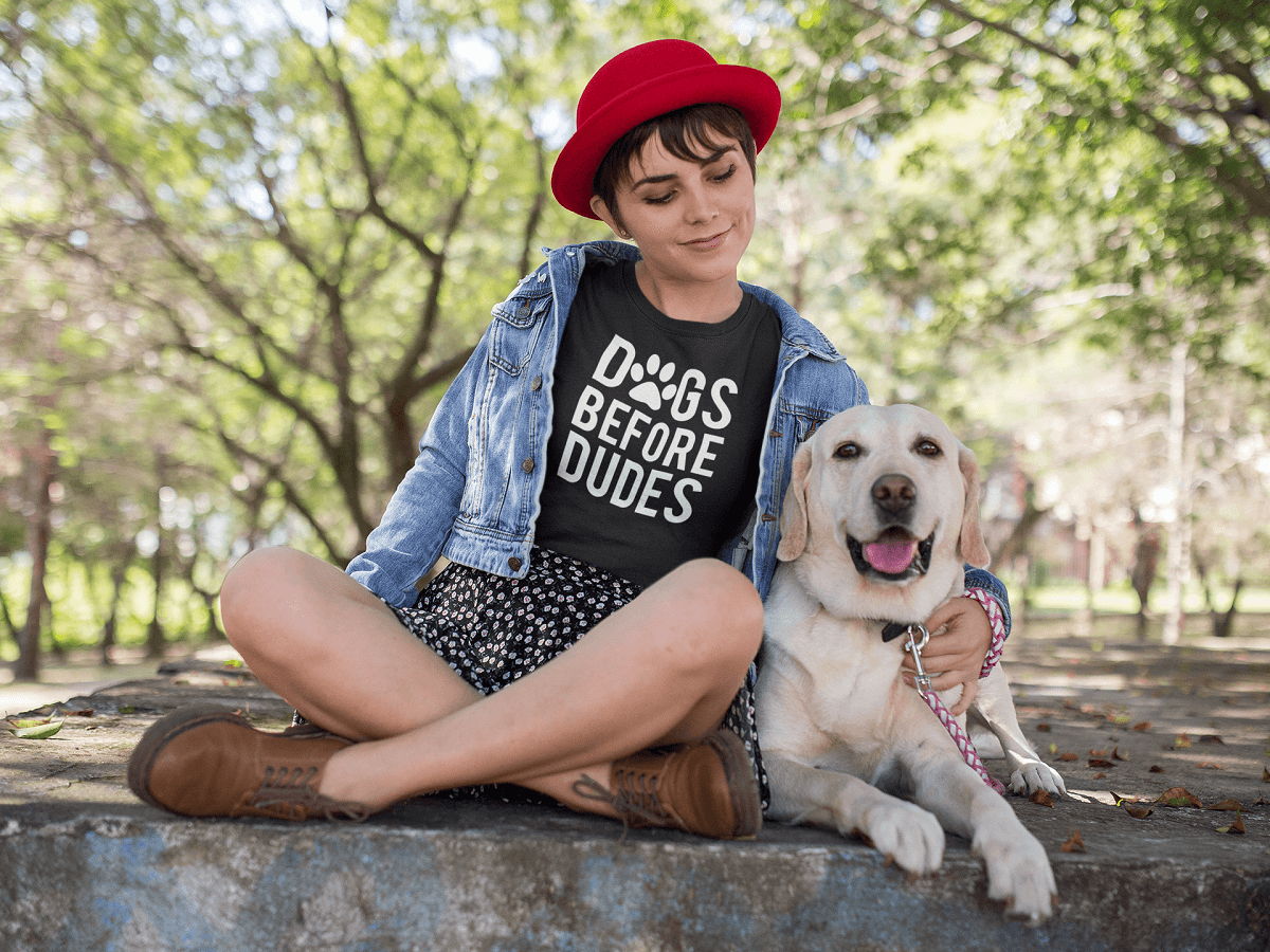 """Dogs Before Dudes"" Women's Triblend T-Shirt"