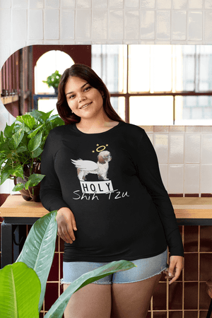 """Holy Shih Tzu"" Unisex Long Sleeve Shirt"