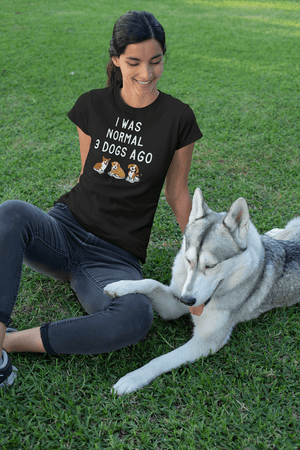 """I Was Normal 3 Dogs Ago"" Women's Triblend T-Shirt"