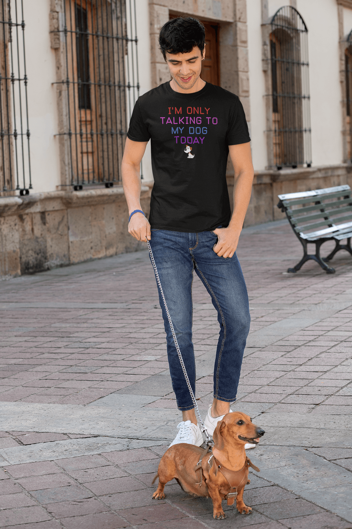 """I'm Only Talking To My Dog Today"" Men's Triblend T-Shirt"