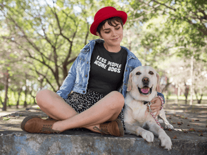 """Less People More Dogs"" Women's Triblend T-Shirt"