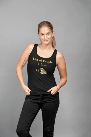 """List Of People I Like"" Women's Racerback Tank Top"