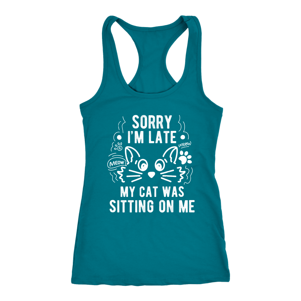 """Sorry I'm Late"" Women's Racerback Tank Top"
