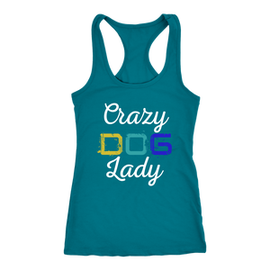 """Crazy Dog Lady"" Women's Racerback Tank Top"