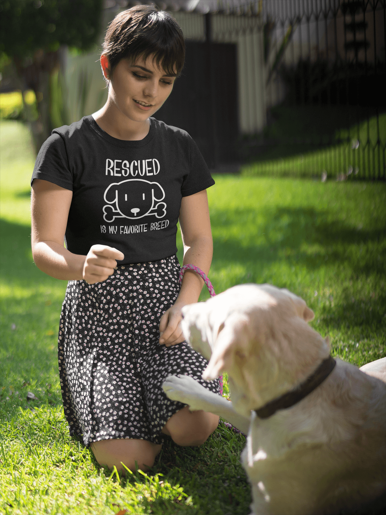 """Rescued Is My Favorite Breed"" Women's Triblend T-Shirt"
