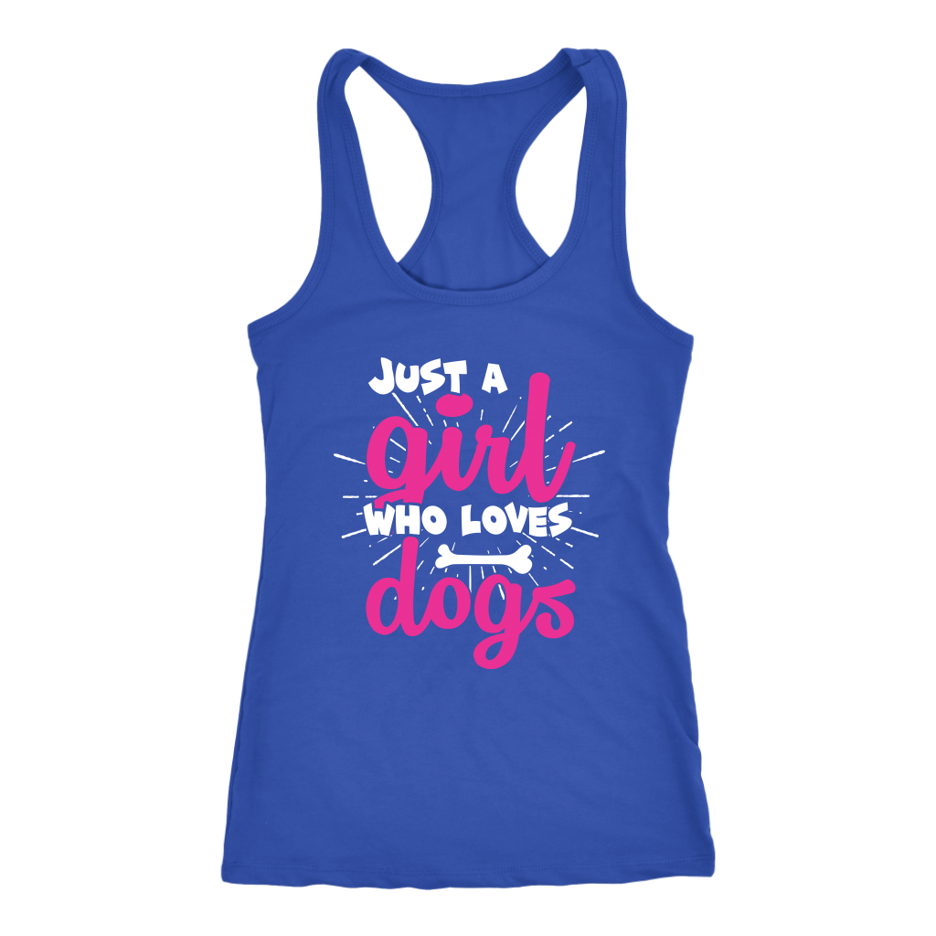 """Just A Girl Who Loves Dogs"" Women's Racerback Tank Top"