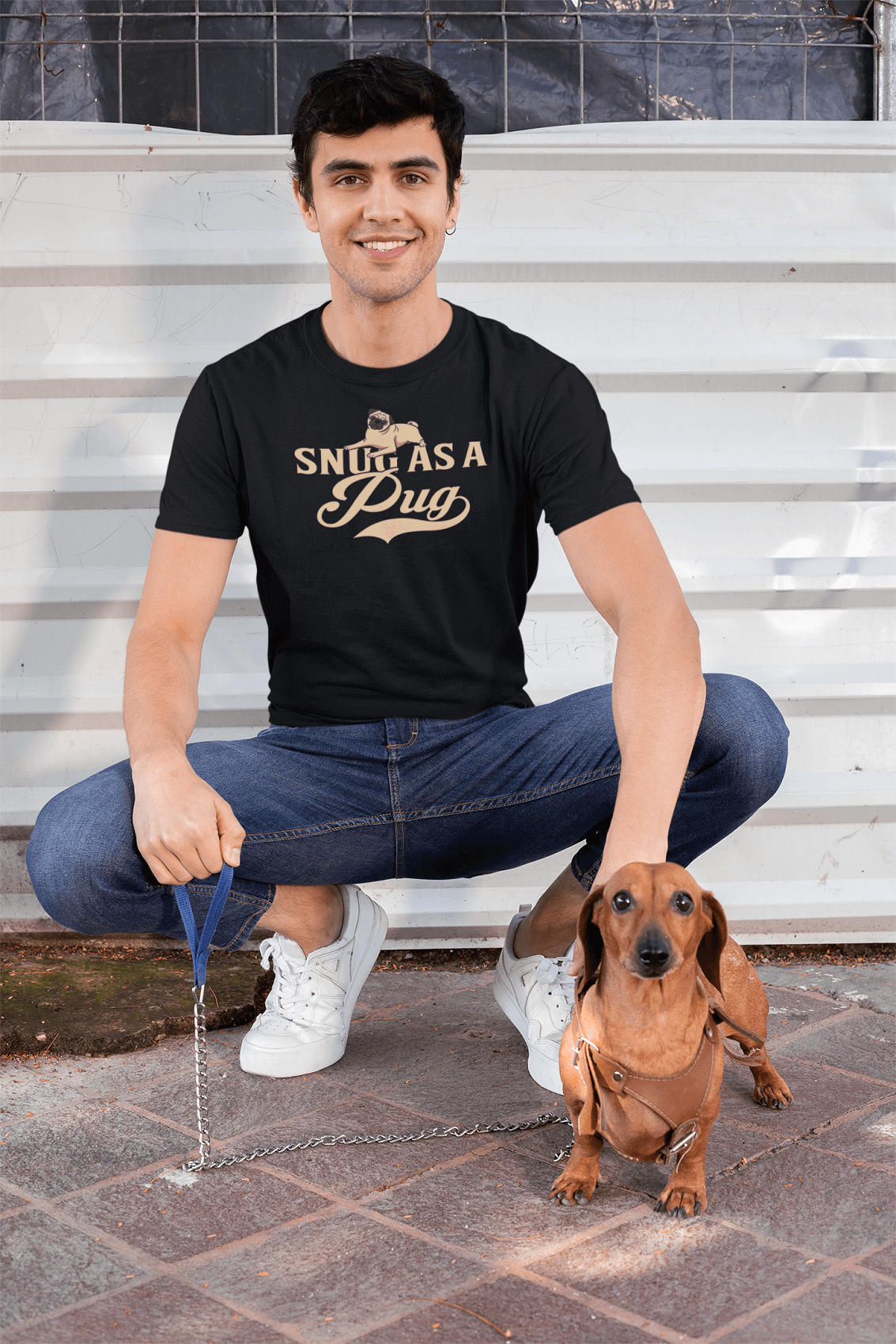 """Snug As A Pug"" Men's Triblend T-Shirt"