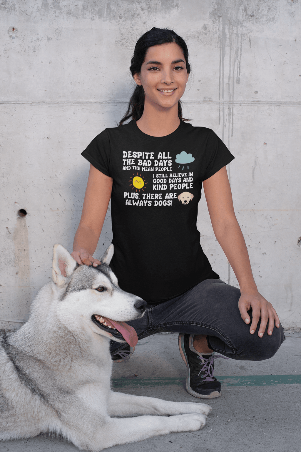 """There Are Always Dogs"" Women's Triblend T-Shirt"