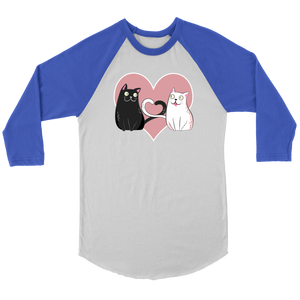 """Cat Lover"" Unisex Raglan Shirt"