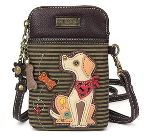 Yellow Lab Multicolor Crossbody Handbag