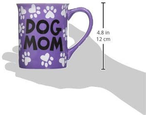 """Dog Mom"" 16 oz Stoneware Coffee Mug"