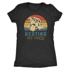 """Resting Pit Face"" Women's Triblend T-Shirt"