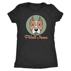 """Pitbull Mama"" Women's Triblend T-Shirt"
