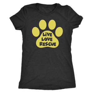 """Live Love Rescue"" Women's Triblend T-Shirt"