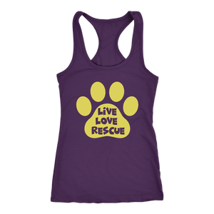 """Live Love Rescue"" Women's Racerback Tank Top"
