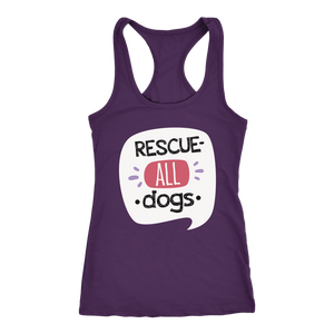 """Rescue All Dogs"" Women's Racerback Tank Top"
