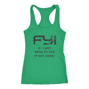 """FYI"" Women's Racerback Tank Top"