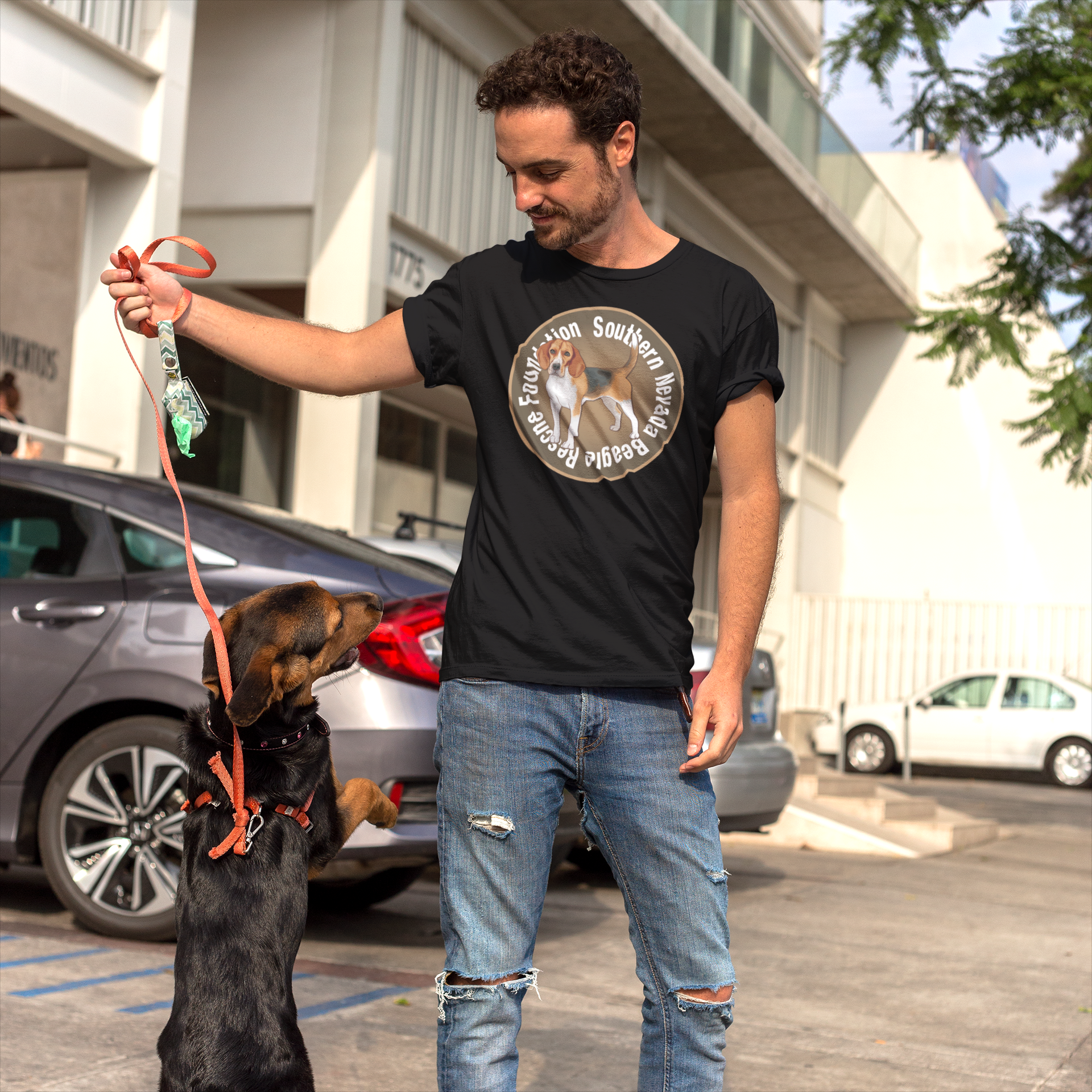 Southern Nevada Beagle Rescue Foundation Men's T-Shirt