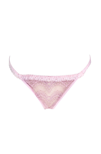 Baby pink lace thong