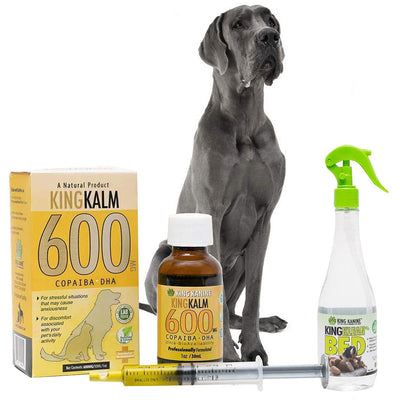 King Kalm 600mg Hemp Oil For Great Danes+ FREE Klean Bed Spray