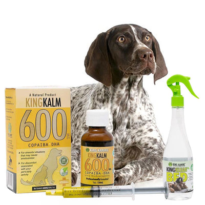 King Kalm 600mg Hemp Oil For German Shorthaired Pointers + FREE Klean Bed Spray