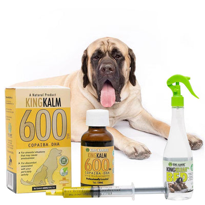 King Kalm 600mg Hemp Oil For Mastiffs + FREE Klean Bed Spray